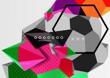 Colorez l'affiche géométrique de la composition 3d Photo stock