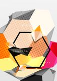 Colorez l'affiche géométrique de la composition 3d Photographie stock