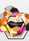 Colorez l'affiche géométrique de la composition 3d Images stock