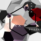 Colorez l'affiche géométrique de la composition 3d Image libre de droits