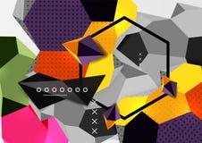 Colorez l'affiche géométrique de la composition 3d illustration stock