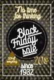 Colorez l'affiche noire de vente de vendredi de vintage Photos libres de droits