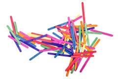 Colorez l'art en bois de bâton de glace et le fond abstrait Photo libre de droits