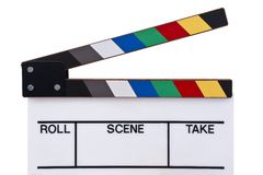 Colorez l'avant de clapperboard Images stock
