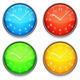 Colorez l'horloge. Image stock