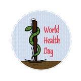 Colorez l'illustration plate consacrée au jour de la santé Image stock