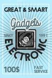 Colorez la bannière électronique d'instruments de vintage Photos libres de droits