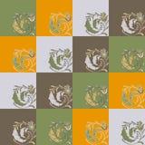 Colorez la boucle florale de modèle Photo libre de droits