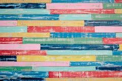 Colorez le fond abstrait en bois de texture Photos stock