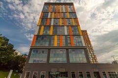 Colorez le gratte-ciel pour des entreprises constituées en société plein du possib Image libre de droits