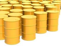 colorez le jaune de beaucoup de réservoirs Images libres de droits