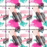 Colorez le modèle sans couture abstrait de taches Photo libre de droits
