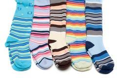 Colorez le pantyhose barré par chéri photographie stock libre de droits