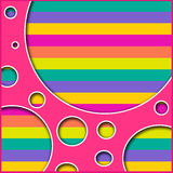 Colorez le rétro fond de souffle Photos libres de droits