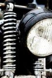 Colorez le tir d'un amortisseur d'avant de moto de vintage Photos libres de droits