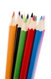 Colorez les crayons 1 neuf Images libres de droits