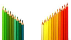 Colorez les crayons Photo libre de droits