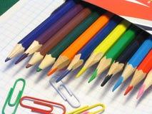 Colorez les crayons Photos stock