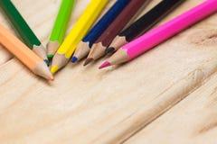 Colorez les crayons photographie stock libre de droits