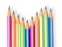Colorez les crayons Photo stock