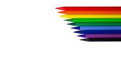 Colorez les crayons, ligne diagonale à l'arrière-plan blanc image libre de droits