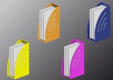 colorez les dépliants pleins illustration stock