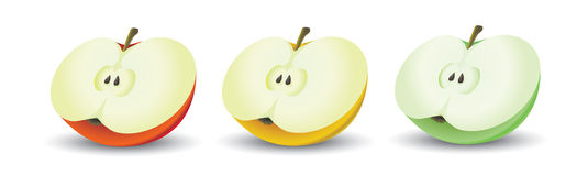 Colorez les pommes Images stock