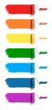 Colorez les rouleaux de peinture Photo stock