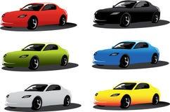 Colorez les véhicules Image libre de droits
