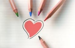Colorez votre coeur - rouge Photo libre de droits