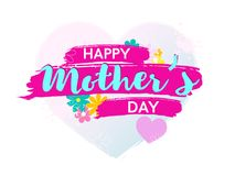 Colorfil happy mother s day poster or banner. Colorful happy mother s day poster or banner.Isolated on white background. Vector illusrtation Stock Photo