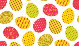 Colorfl复活节彩蛋无缝的样式 库存图片