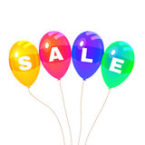 Colorflus Balloons. Sale. Vector Royalty Free Stock Photography