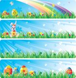 Colorfol Easter banner set Stock Photos