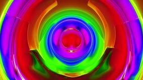 Colorfool 3 cerchi variopinti di //1080p struttura il video ciclo del fondo illustrazione di stock