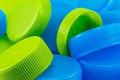 Colorfoul Plastic Bottle Caps Royalty Free Stock Images