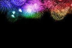 Colorfu космоса экземпляра copyspace предпосылки фейерверков Новогодней ночи иллюстрация вектора