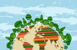 Colorfu green world Stock Images