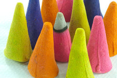 Colorfud incense cone Stock Photography