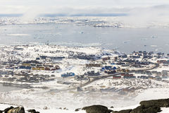 Colorfuk przedmieście Nuuk Fotografia Stock
