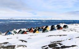 Colorfuk przedmieście Nuuk Obraz Stock