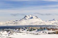 Colorfuk-Vorort von Nuuk Stockfotografie