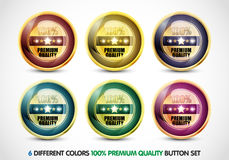 Colorful 100% Premium Quality Button Set Royalty Free Stock Images
