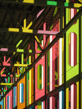 Colorful. Interior of Convention Center in Montreal(Palais des Congrès Royalty Free Stock Image