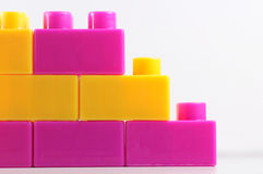 Colorful. Building blocks on white background Stock Photo