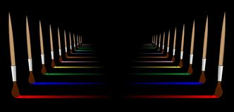 Colorful. Dark background full of brushes Royalty Free Stock Photography