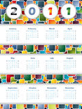 Colorful 2011 calendar. With stripes Royalty Free Stock Image