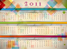 Colorful 2011 Wall Calendar. | EPS10 Vector Template Stock Image
