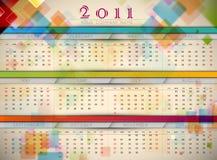Colorful 2011 Wall Calendar. | EPS10 Vector Template Vector Illustration