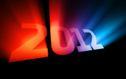 Colorful 2012 Stock Photo